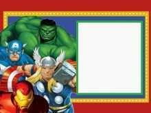 28 Creative Birthday Card Template Avengers Templates by Birthday Card Template Avengers