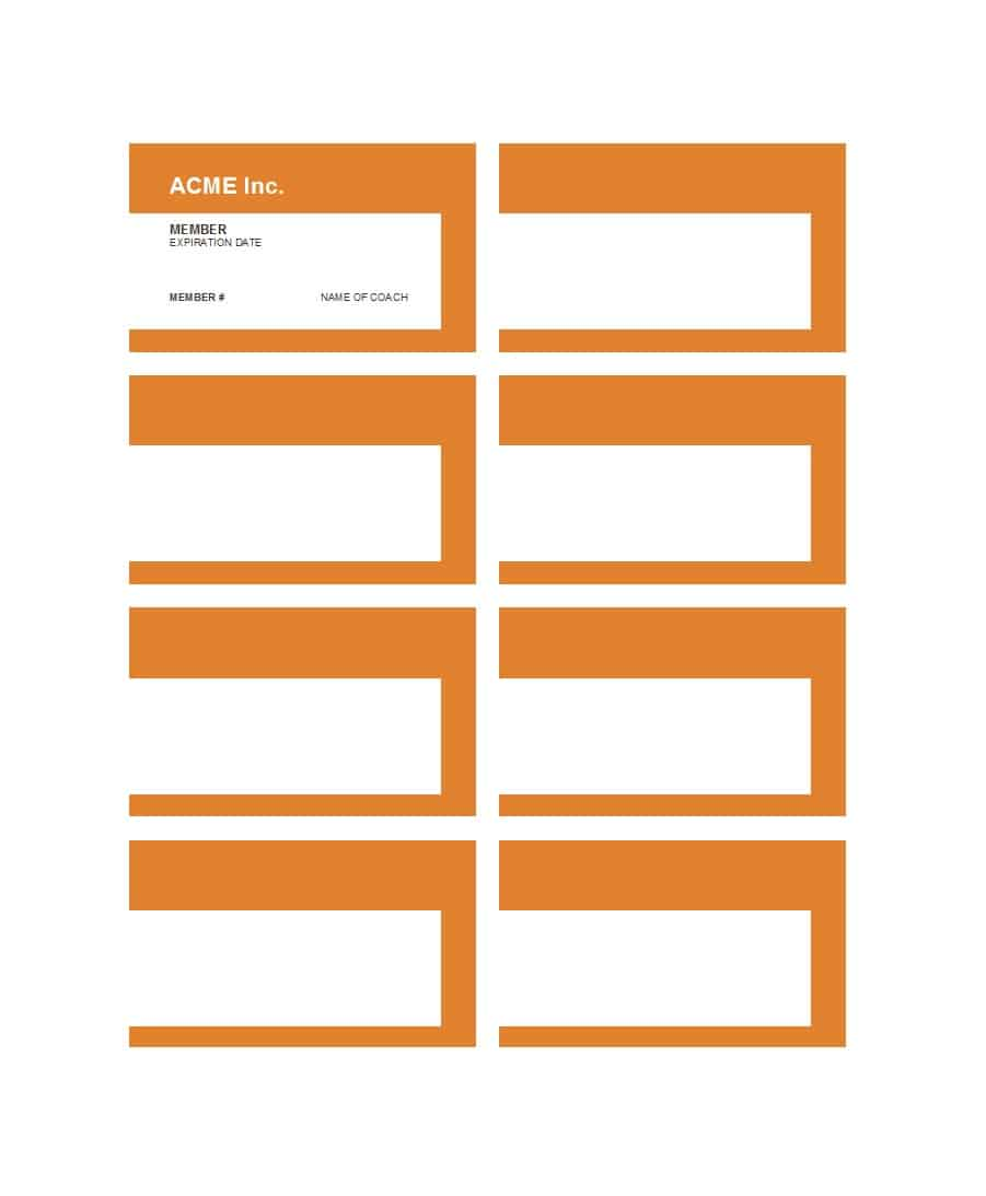 21 Creative Printable Membership Card Template Templates with Pertaining To Template For Membership Cards