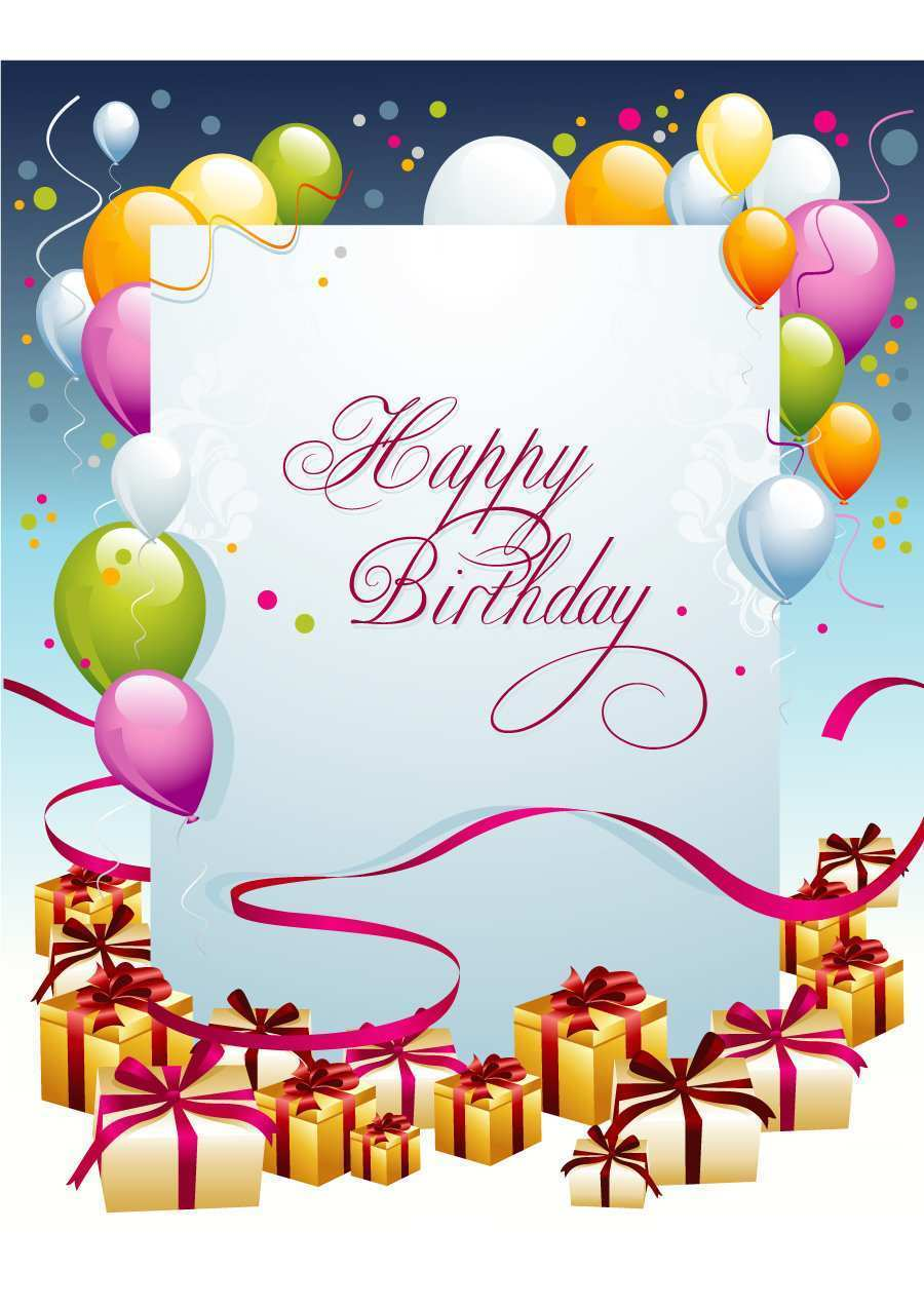 28 Format Birthday Card Templates To Print Free Now with Birthday Card Templates To Print Free