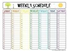 28 Free Class Schedule Template Printable in Word by Class Schedule Template Printable