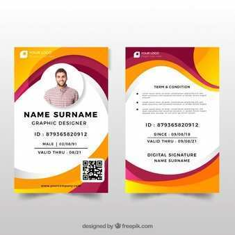 28 Free Printable Id Card Template Portrait in Photoshop for Id Card Template Portrait