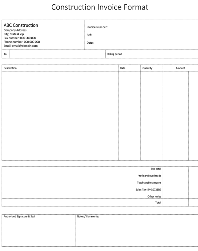 28 Free Printable Roofing Contractor Invoice Template For Ms Word For Roofing Contractor Invoice Template Cards Design Templates