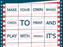 28 Online Bingo Card Template To Print Formating with Bingo Card Template To Print