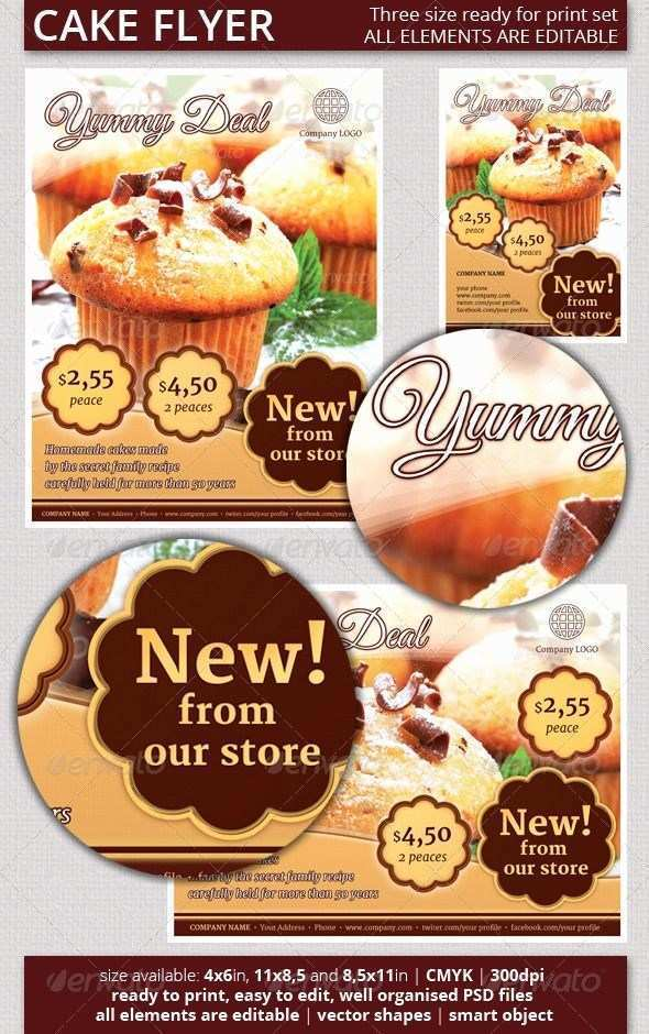 28 Printable Bakery Flyer Templates Free Formating with Bakery Flyer Templates Free