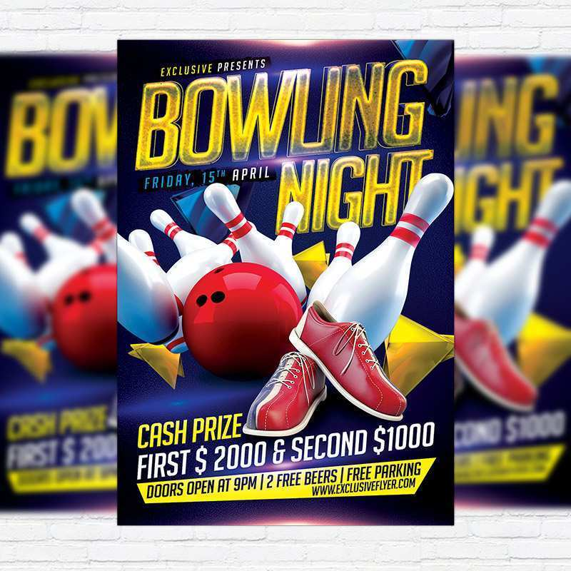 29 Adding Bowling Night Flyer Template in Photoshop by Bowling Night Flyer Template
