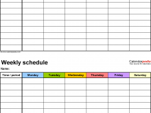 29 Best Class Schedule Template Free PSD File with Class Schedule Template Free