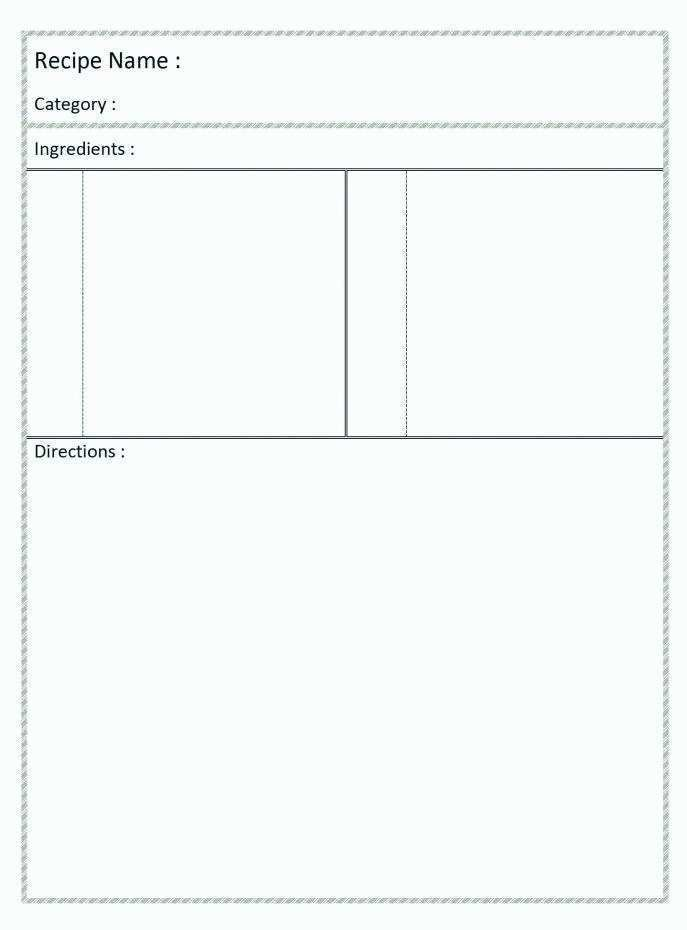 29 Blank Recipe Card Template For Word 4X6 Maker for Recipe Card Template For Word 4X6