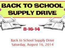 29 Create Back To School Supply Drive Flyer Template Formating by Back To School Supply Drive Flyer Template