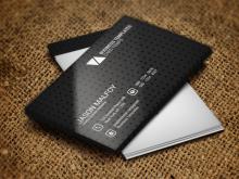 29 Creative Black Business Card Template Free Download Now for Black Business Card Template Free Download