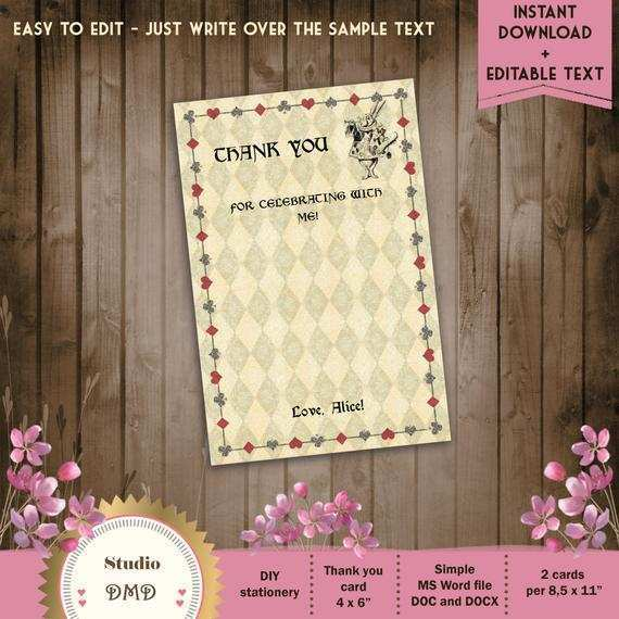 29 Customize Our Free 4 X 6 Thank You Card Template Now by 4 X 6 Thank You Card Template