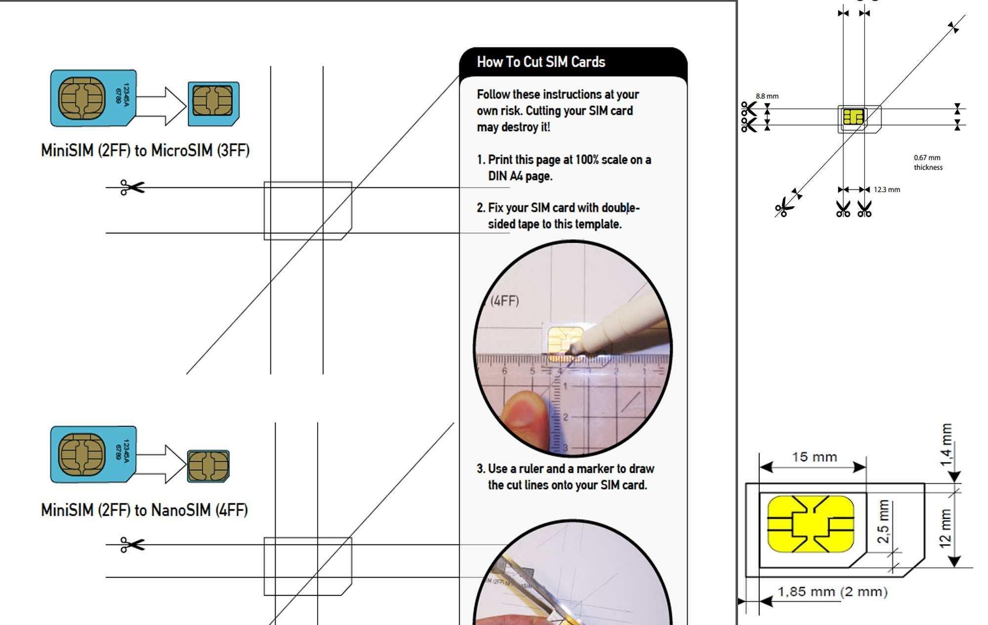 Micro Sim Card Cut Template - Cards Design Templates