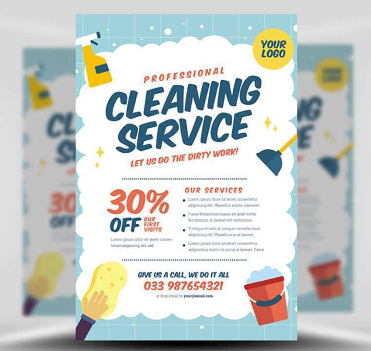 29 Free Cleaning Service Flyer Template for Ms Word by Cleaning Service Flyer Template