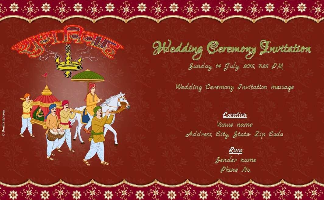 Indian Wedding Card Templates Online