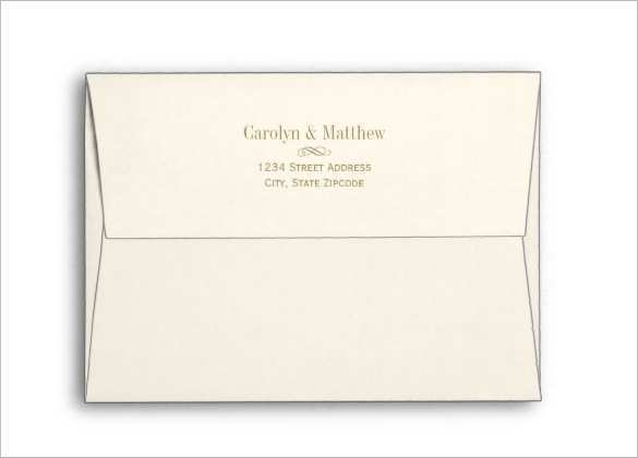 Free Printable Envelope Template 5 X 7