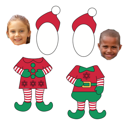 29 Free Printable Christmas Card Template Elf Maker by Christmas Card Template Elf