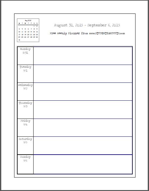 School planner online
