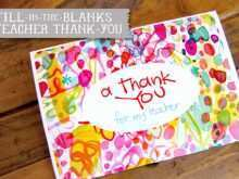 29 Report Thank You Card Templates For Teachers Templates for Thank You Card Templates For Teachers