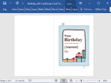 29 Visiting Birthday Gift Card Template Word Maker with Birthday Gift Card Template Word