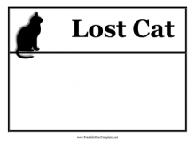 Free Lost Cat Flyer Template