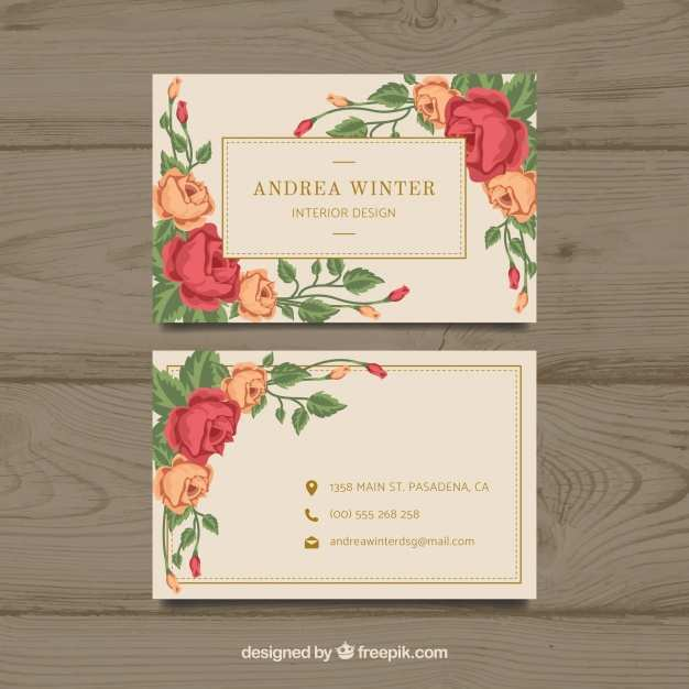 30 Adding Floral Business Card Template Free Download For Free for Floral Business Card Template Free Download