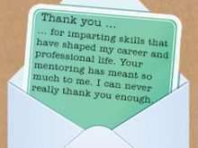 Thank You Card Template For Your Boss