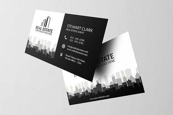 30 Blank Business Card Templates Real Estate in Photoshop for Business Card Templates Real Estate