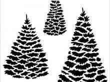 Christmas Tree Template For Card Making