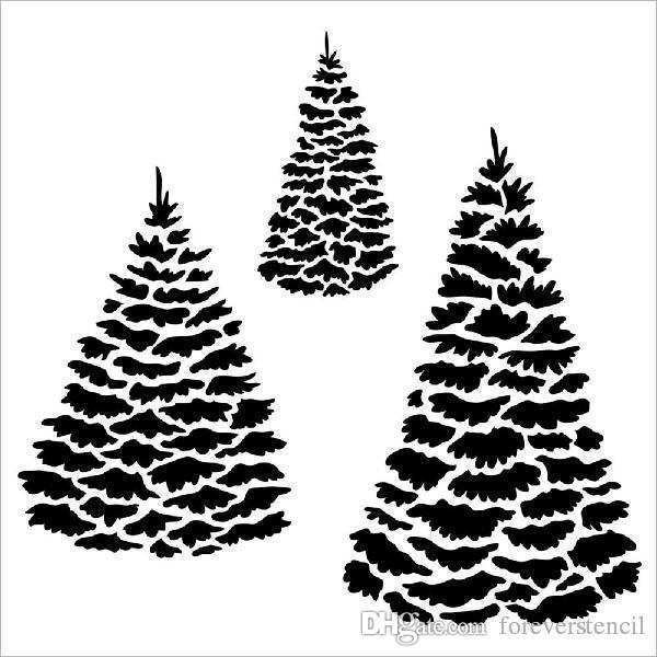 Christmas Tree Template For Card Making Cards Design Templates