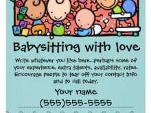 30 Create Babysitter Flyers Template Photo with Babysitter Flyers Template