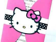 Birthday Invitation Card Template Hello Kitty