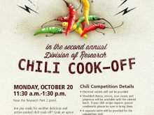 30 Customize Chili Cook Off Flyer Template With Stunning Design by Chili Cook Off Flyer Template