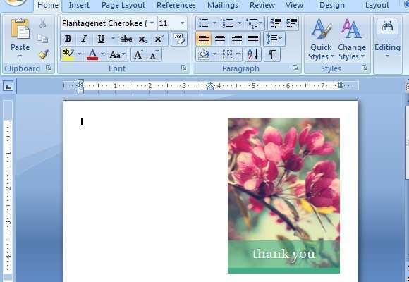 30 Customize Thank You Card Insert