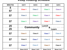 30 Format Class Rotation Schedule Template With Stunning Design with Class Rotation Schedule Template