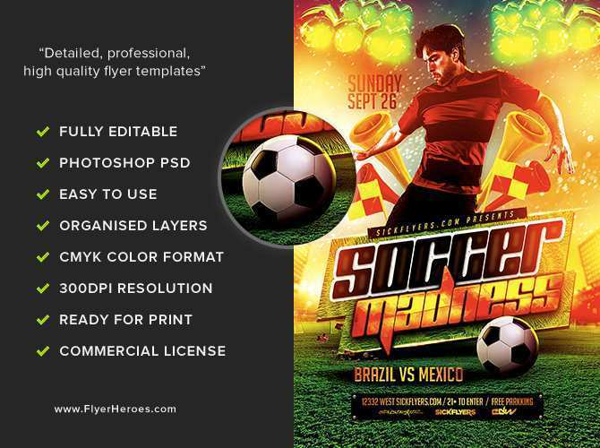 30 Format Free Soccer Flyer Template For Free with Free Soccer Flyer Template