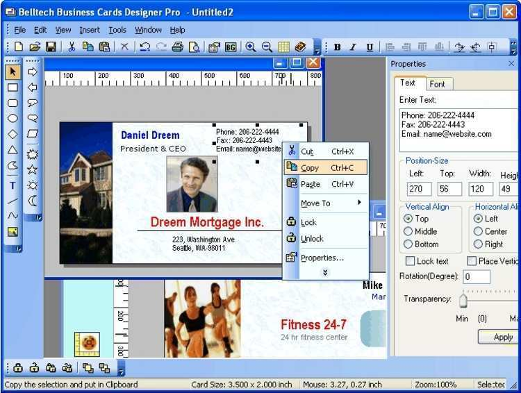 Business Card Template Software Download Free Cards Design Templates