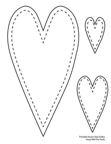 30 Free Heart Card Template Printable in Word by Heart Card Template Printable