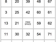 30 Free Printable Bingo Card Template To Print for Ms Word with Bingo Card Template To Print