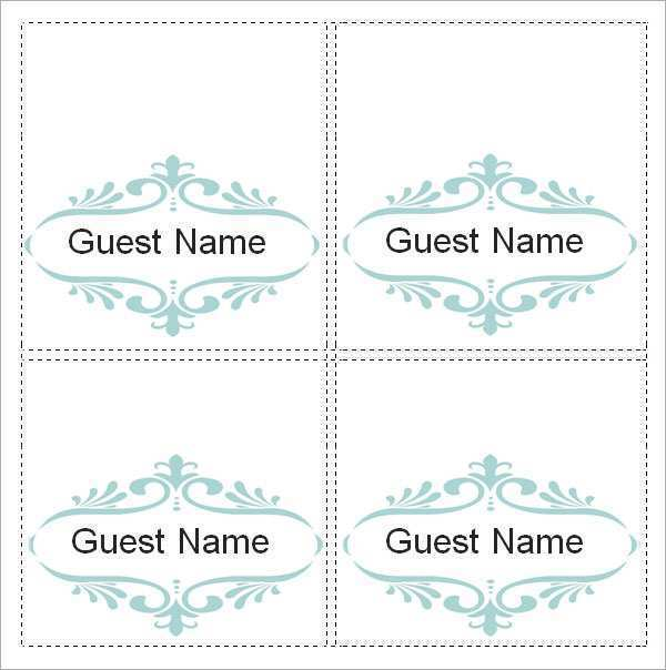 30 Free Word Place Card Templates Now by Word Place Card Templates