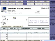 30 Printable Computer Repair Service Invoice Template For Free for Computer Repair Service Invoice Template