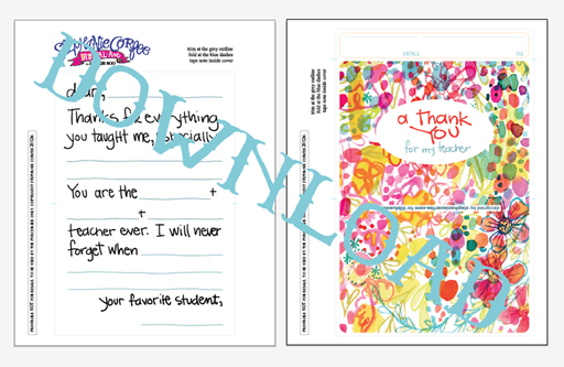This is a picture of Printable Thank You Notes regarding teacher