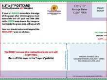 Usps Postcard Guidelines Template