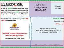30 Standard 4X6 Postcard Template Usps Now for 4X6 Postcard Template Usps
