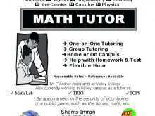 Tutoring Flyer Template Word