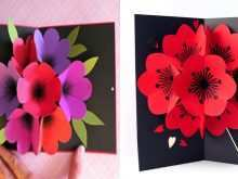 Flower Pop Up Card Template Free Download
