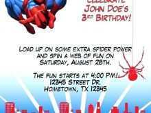 30 Visiting Birthday Card Template Spiderman PSD File with Birthday Card Template Spiderman
