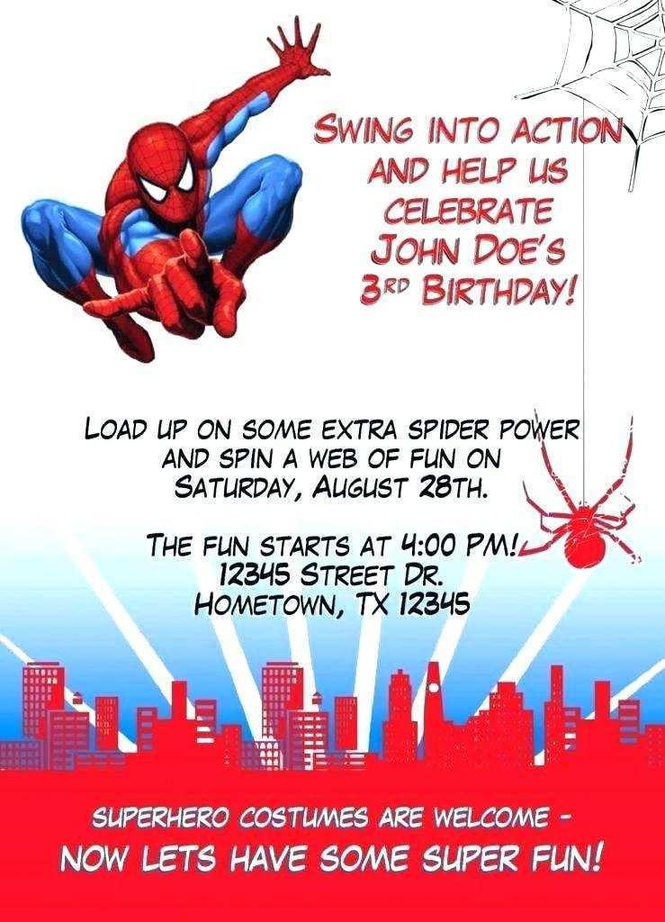 30 Visiting Birthday Card Template Spiderman PSD File with Birthday Card Template Spiderman