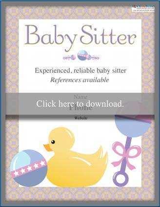 31 Adding Babysitting Flyer Templates in Photoshop with Babysitting Flyer Templates