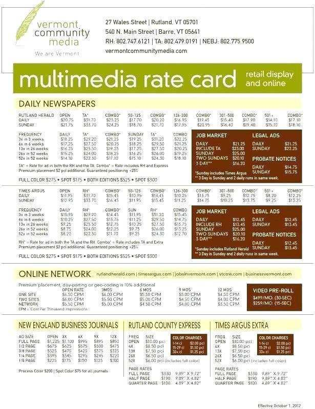 31 Adding Rate Card Template Advertising Photo for Rate Card Template Advertising