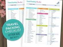 31 Adding Travel Planning Checklist Template Maker with Travel Planning Checklist Template