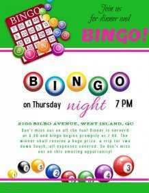31 Best Bingo Flyer Template Free With Stunning Design with Bingo Flyer Template Free